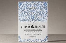 This letter press wedding invitation from Minted is perfect for a formal and elegant wedding
