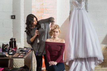 When to hire your hair stylist and make up artist for your wedding day.