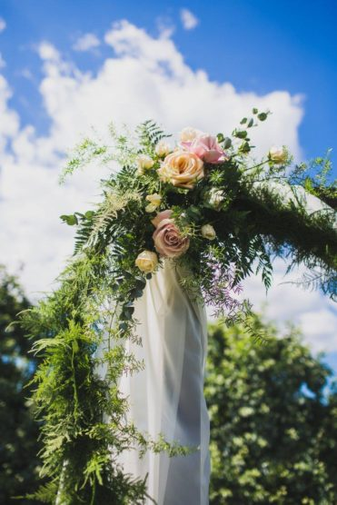 Wedding arch with rose details