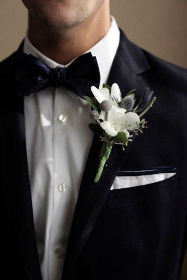 Groom's floral boutineer