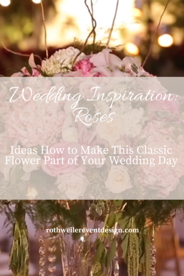 Blog cover for wedding inspiration using roses