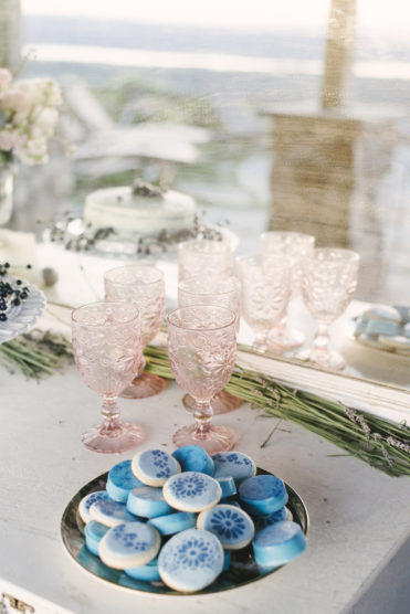Vintage wedding set up for a dessert table