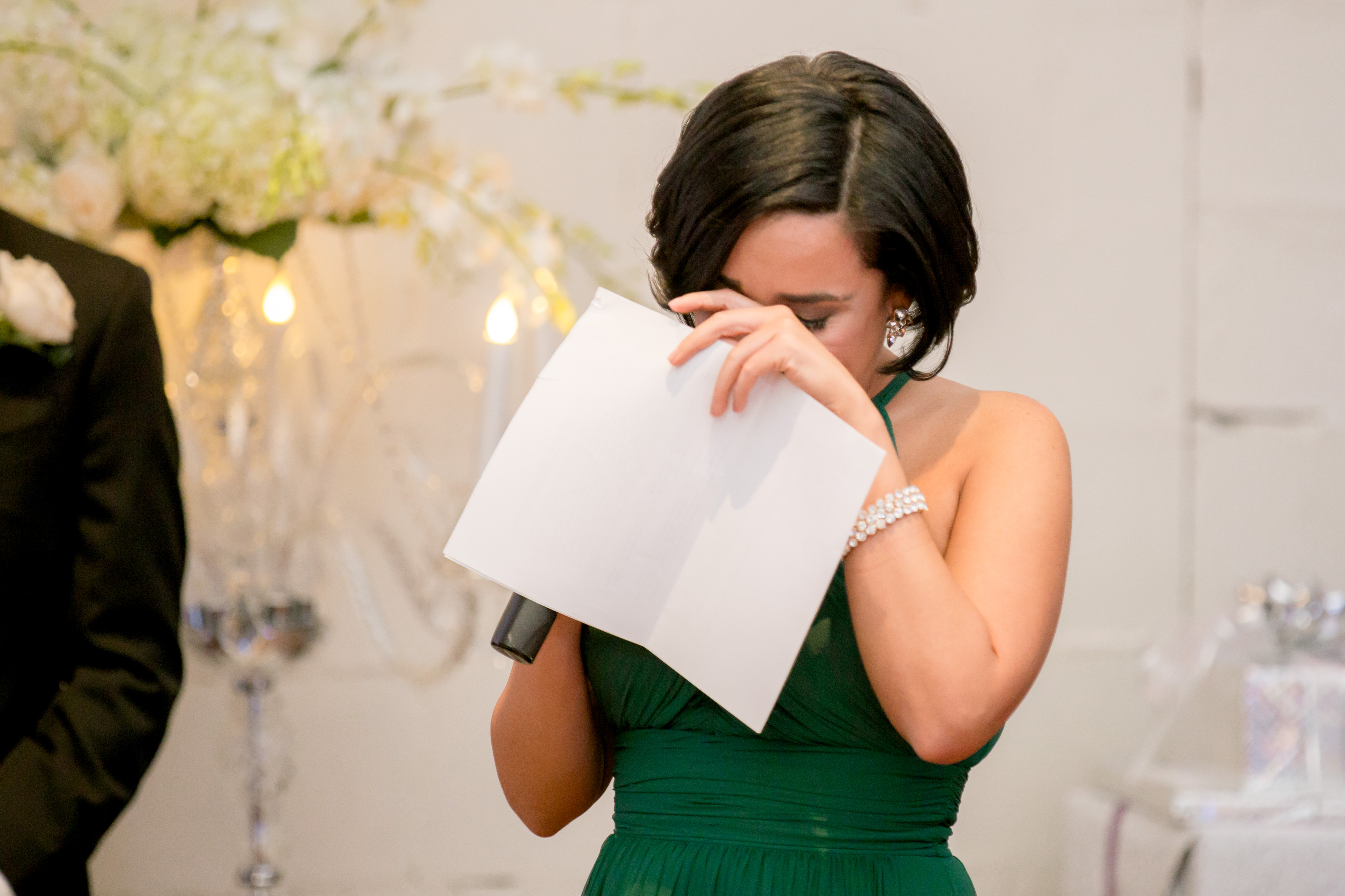 maid of honor wedding toast crying