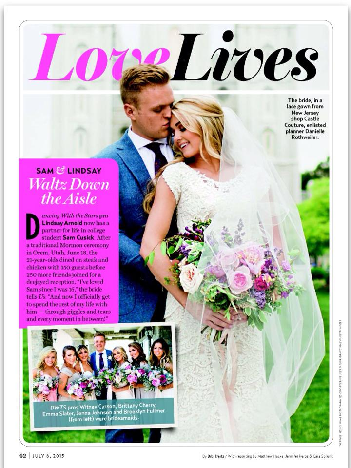 Lindsay Arnold magazine wedding
