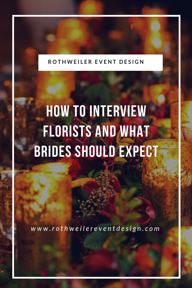 How to Interview Florists and What Brides Should Expect. The blog that every engaged couple needs to read before hiring a florist for their wedding. Read this to find out how to find the best florist for your wedding day and learn what to ask along the way!