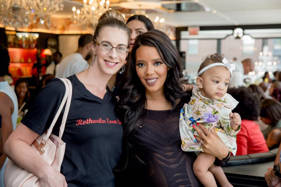 party planner with angela simmons at baby shower