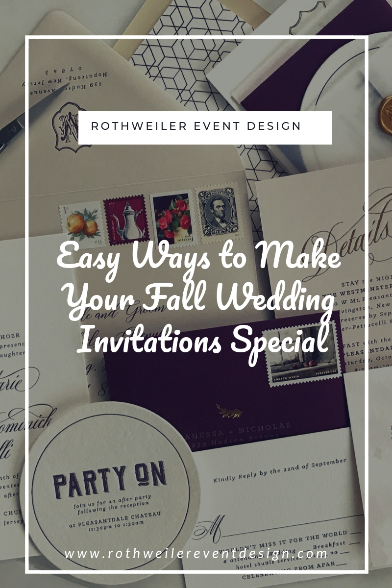 blog cover for blog about unique fall wedding invites