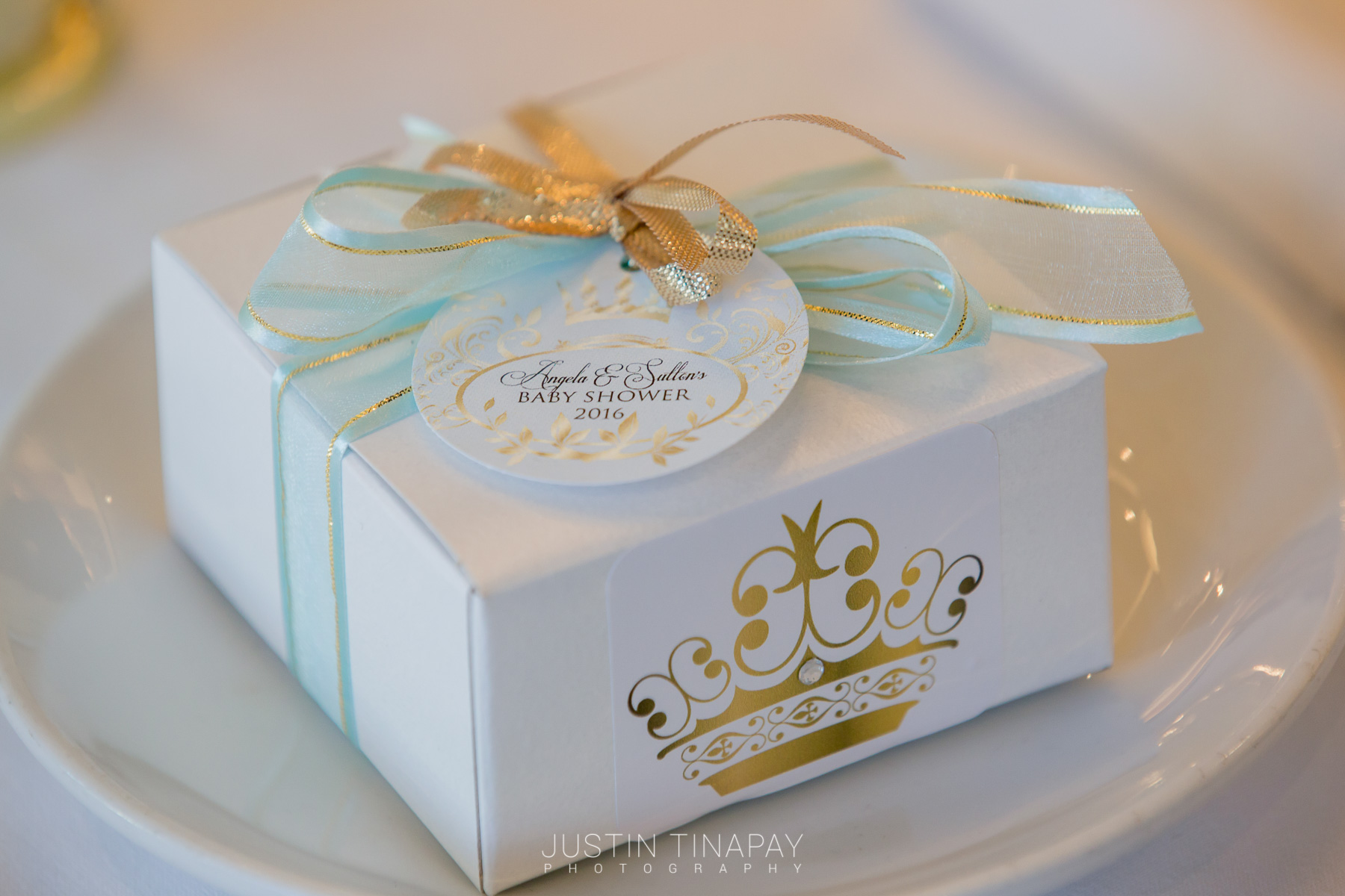personalized favor box for a baby shower