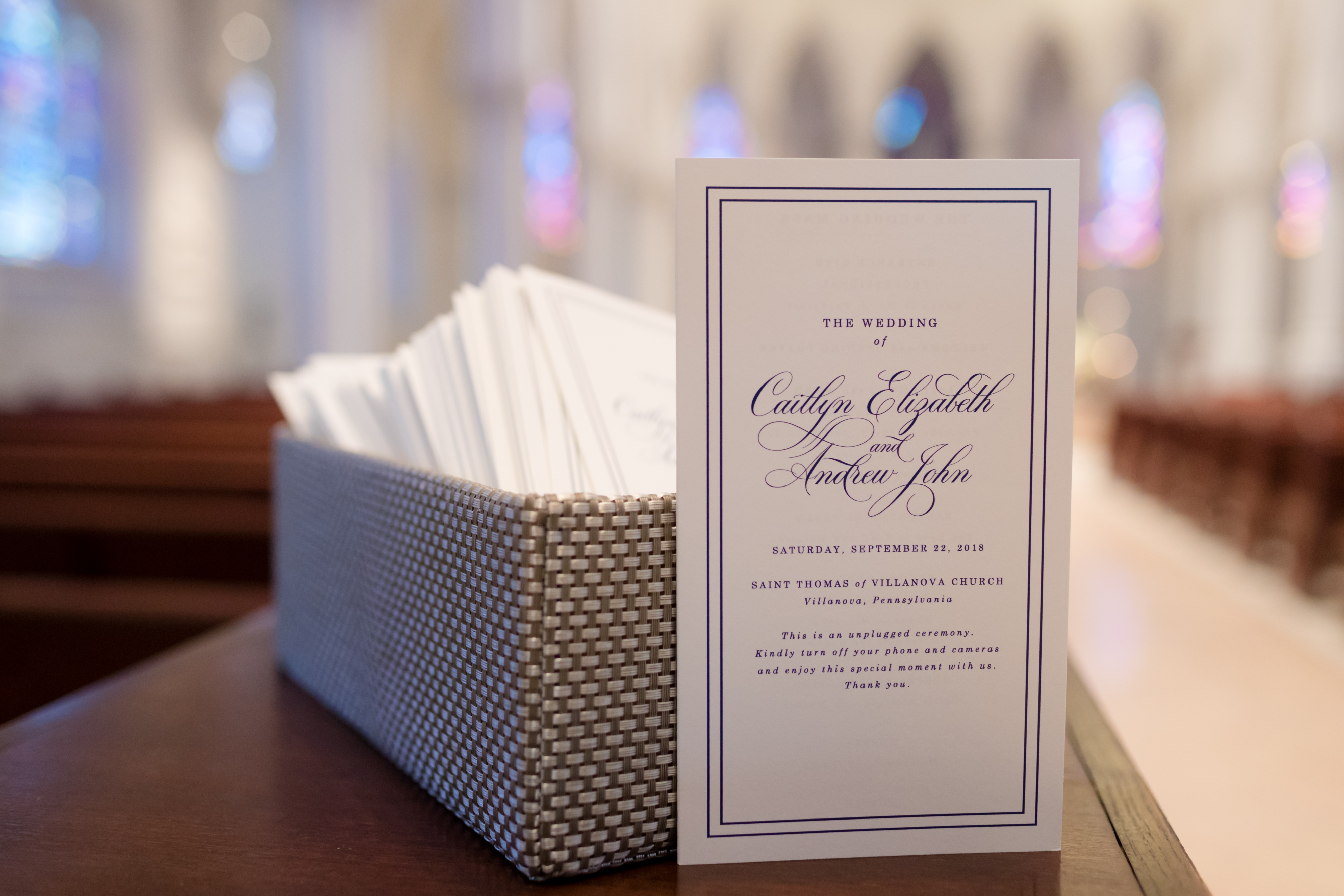 modern wedding ceremony program