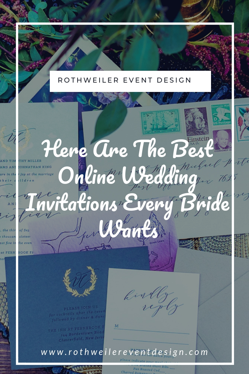 blog cover for blog about online wedding invitations