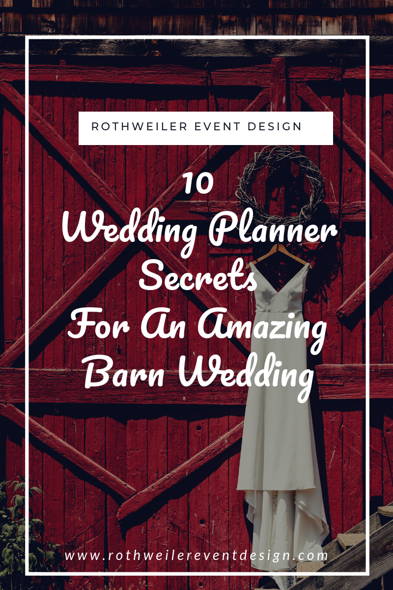 blog cover for blog about planning a barn wedding