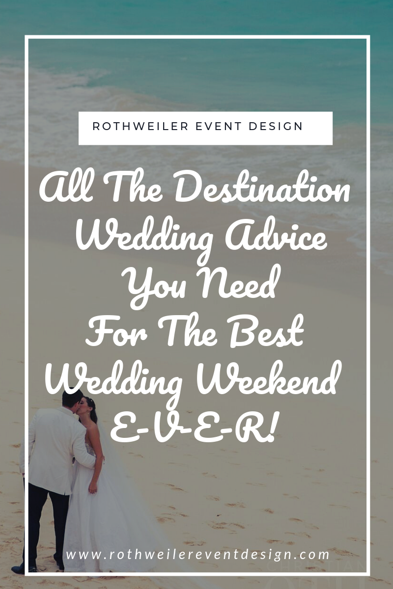 blog cover for blog about destination wedding tips