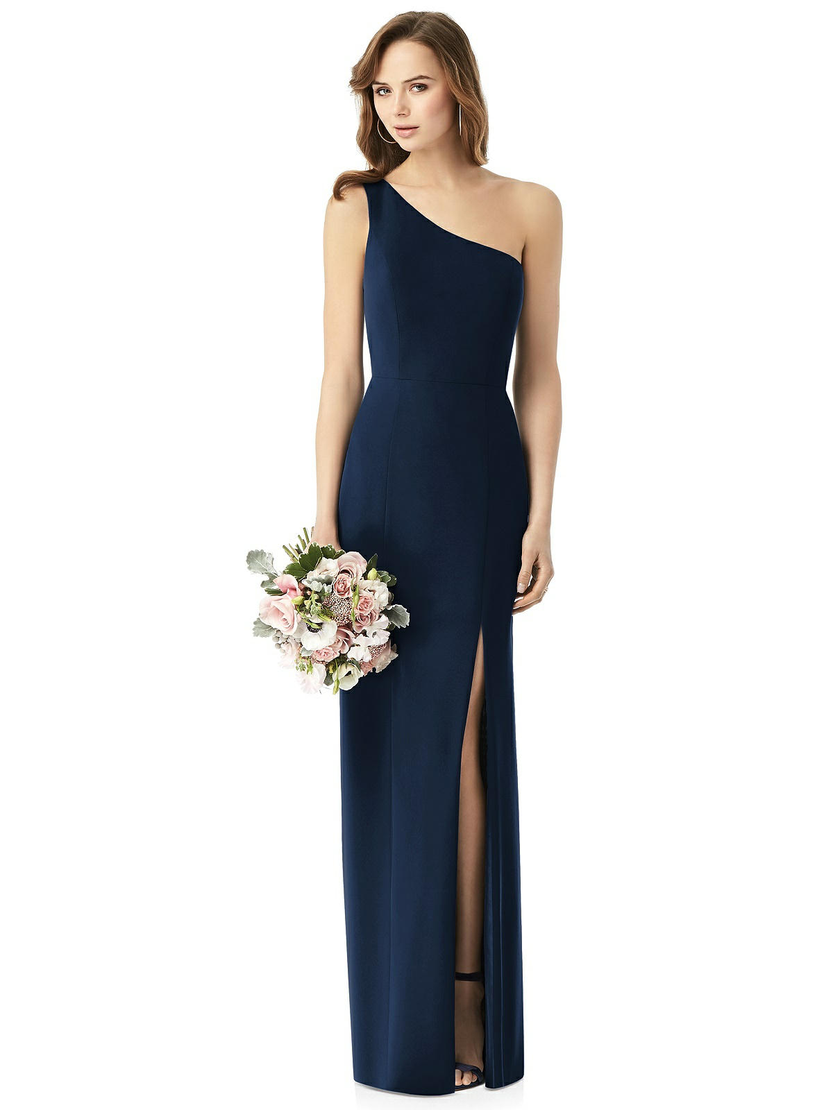 fall wedding bridesmaid dress blue