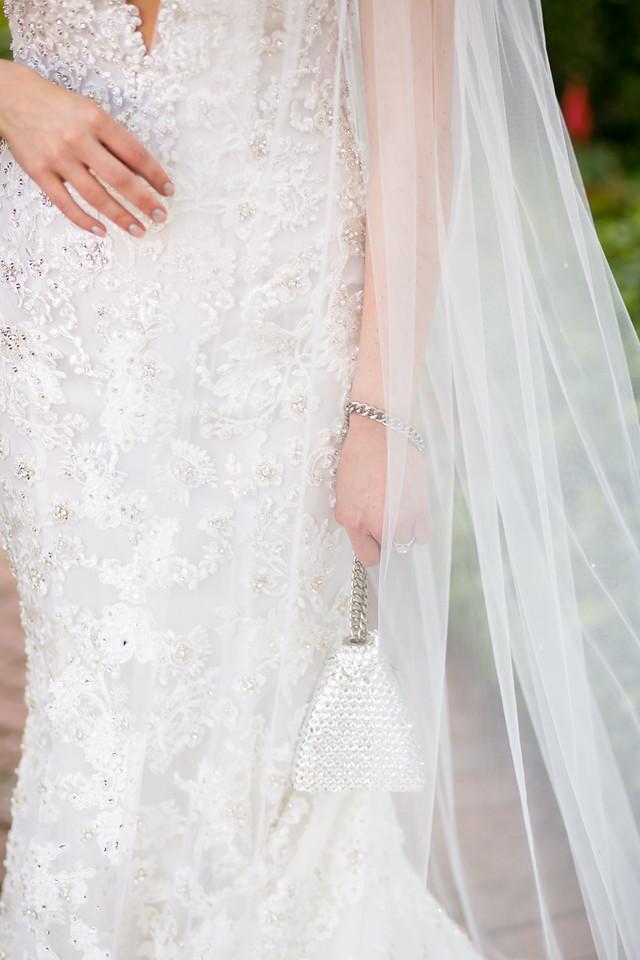 bride dress and veil