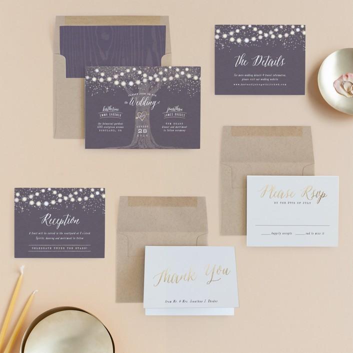 garden style wedding invites