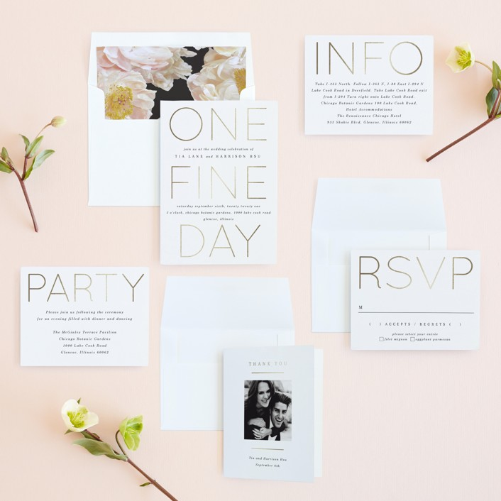 one fine day wedding invites