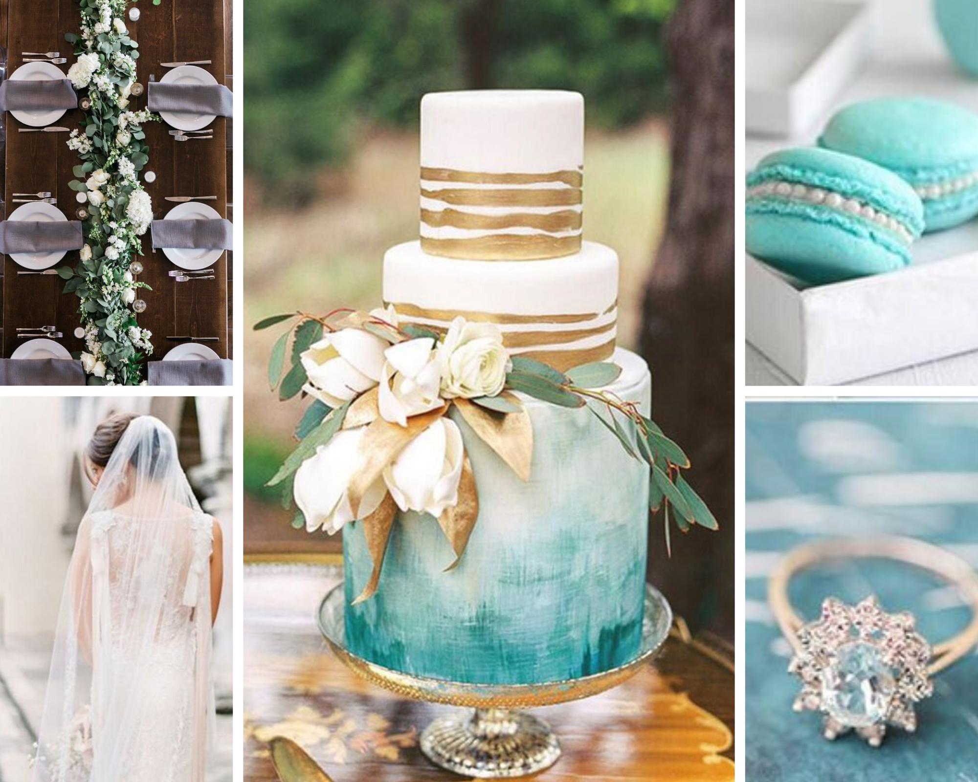 purist blue wedding inspo board