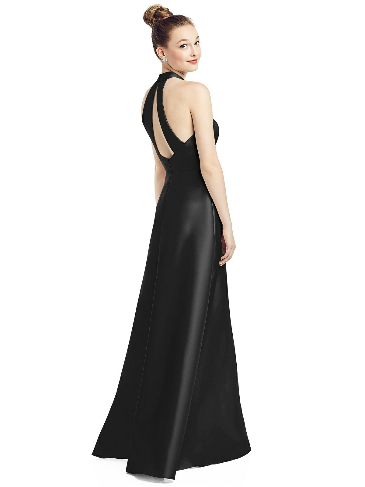 long black bridesmaid dress