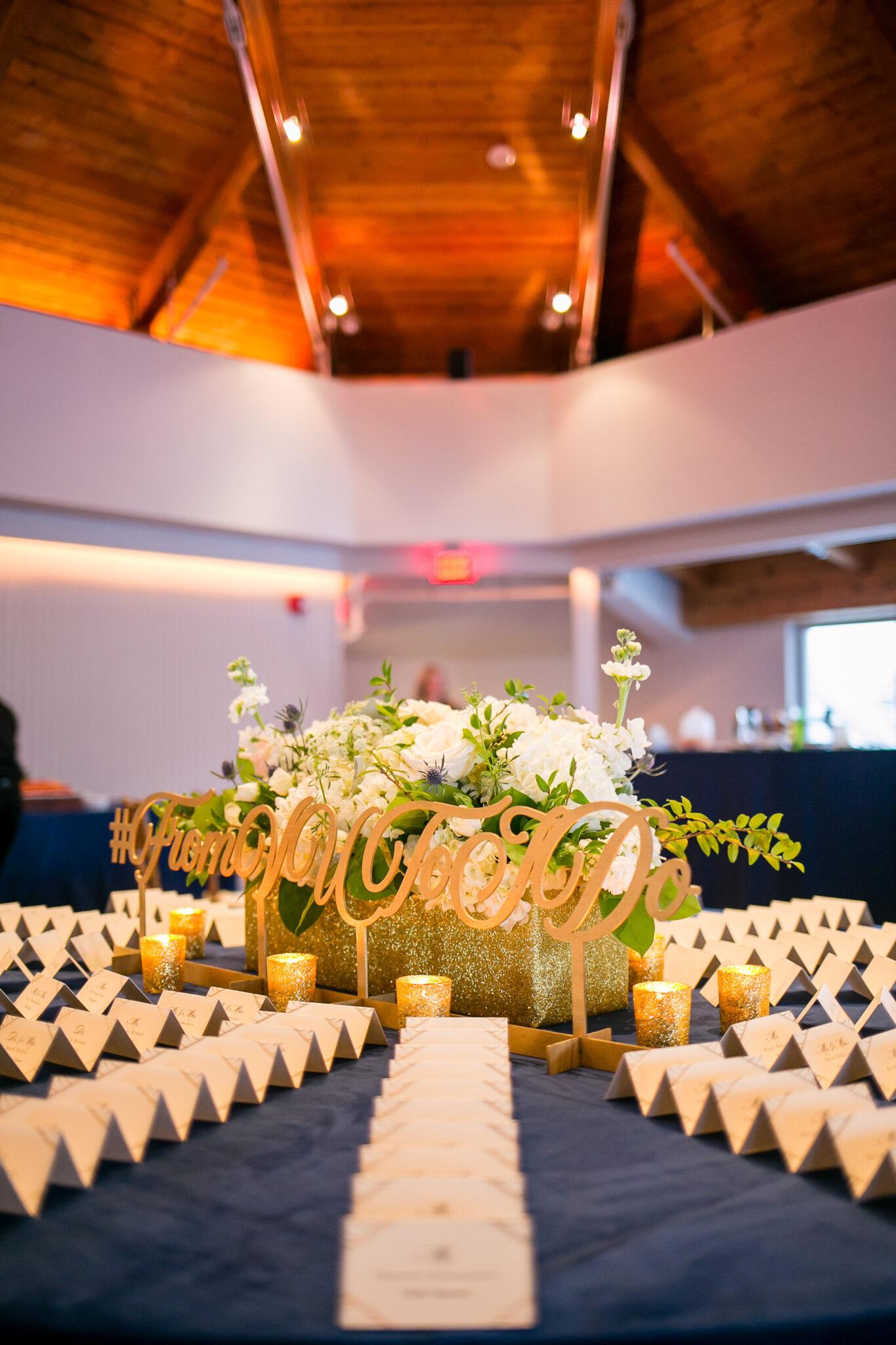 escort card table set up