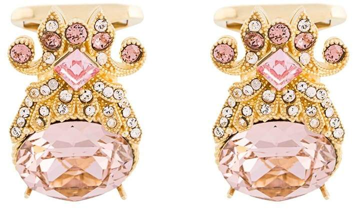 pink and gold wedding cufflinks