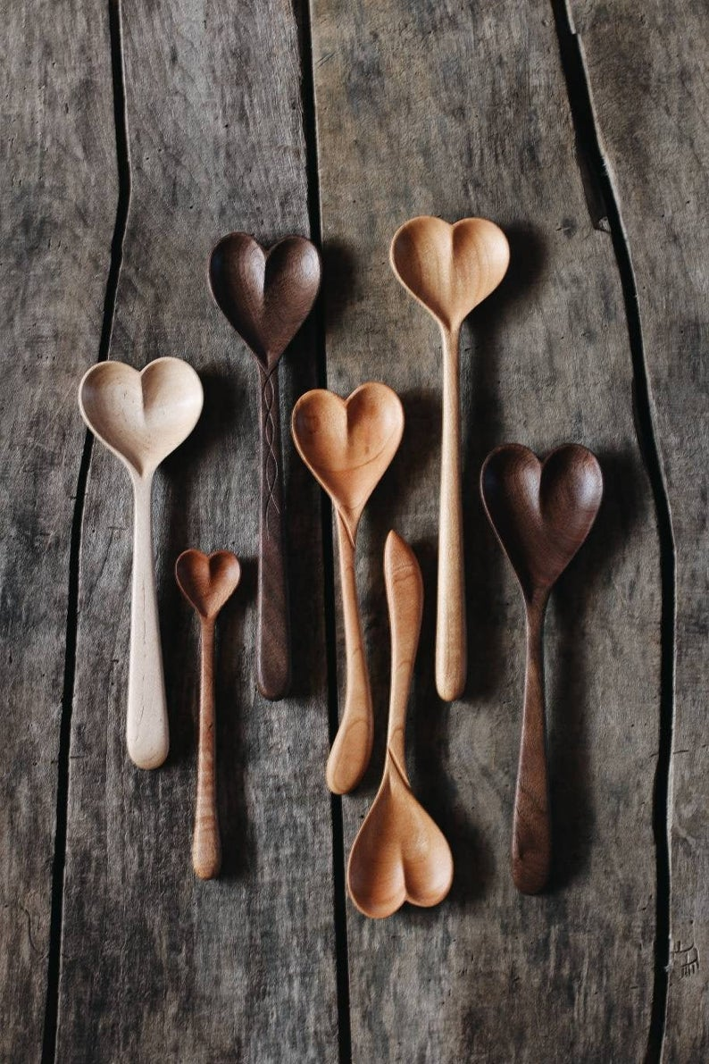 heart wooden spoons