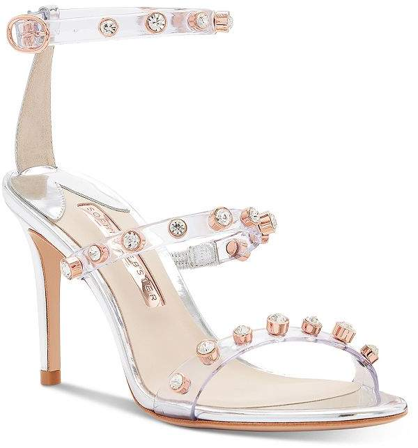 clear and pink heels