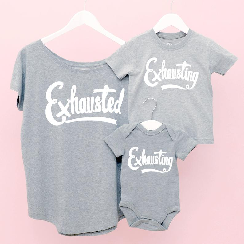 exhausted shirts for quarantine mothers day