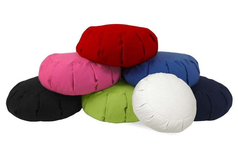 colorful meditation pillows