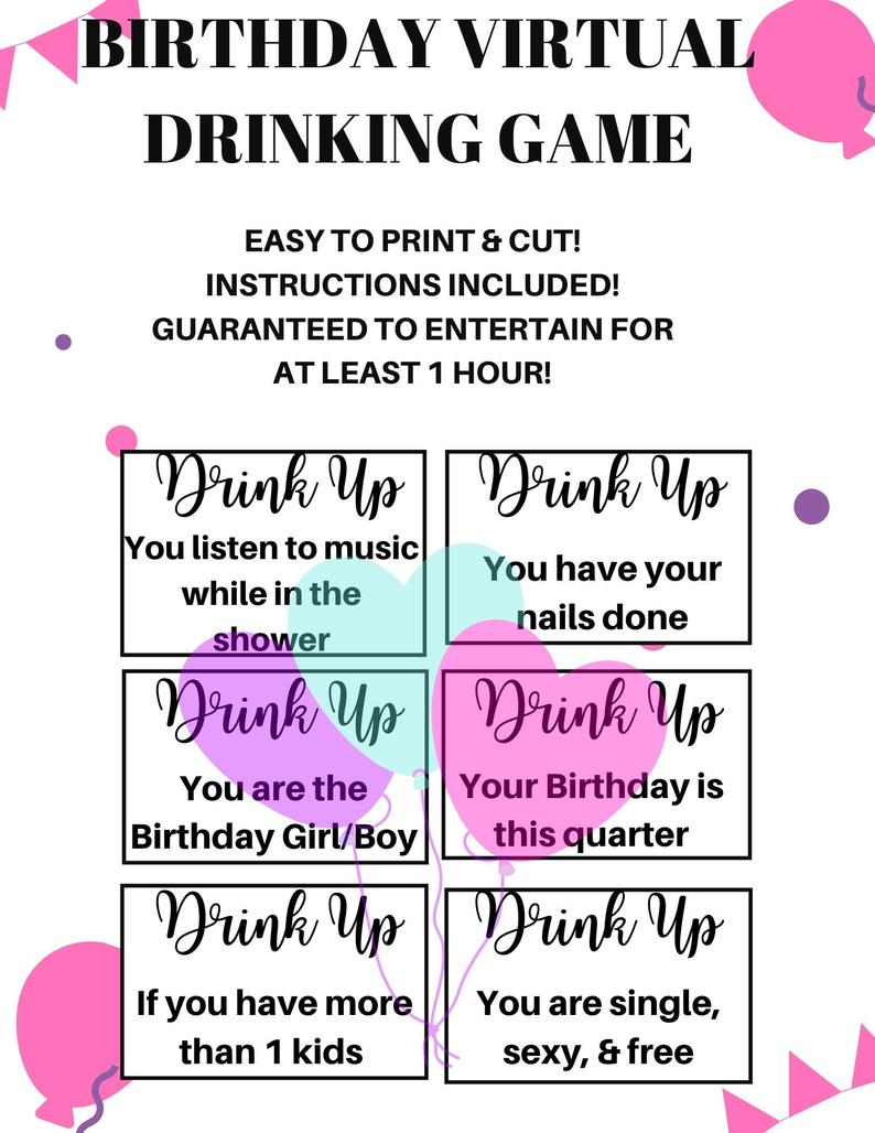 birthday drinking game