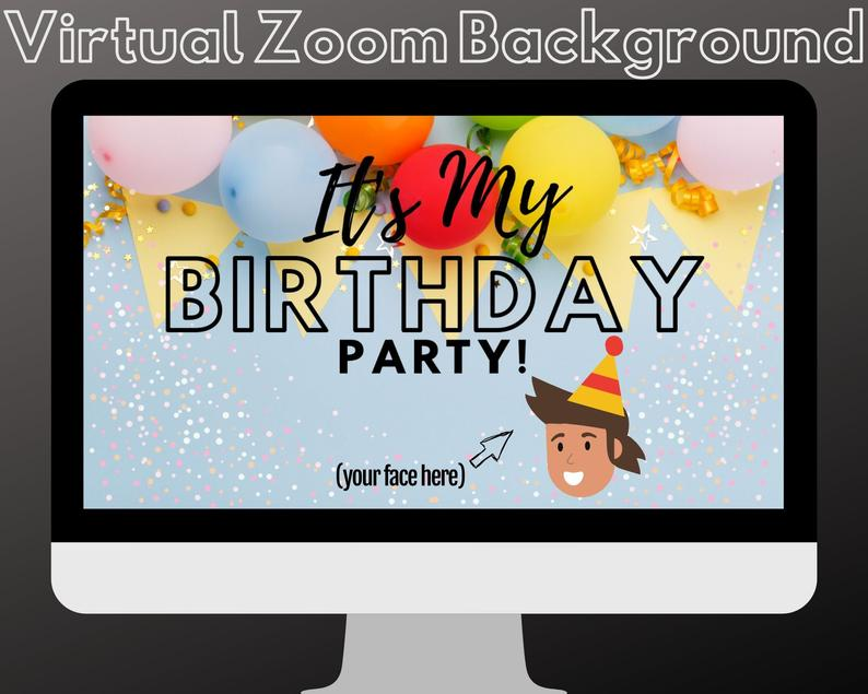 zoom background for birthday