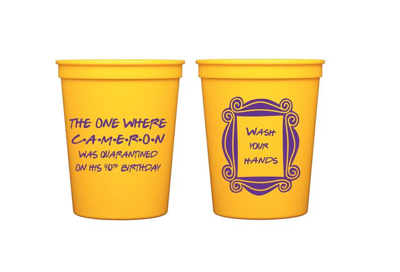 virtual birthday party cups