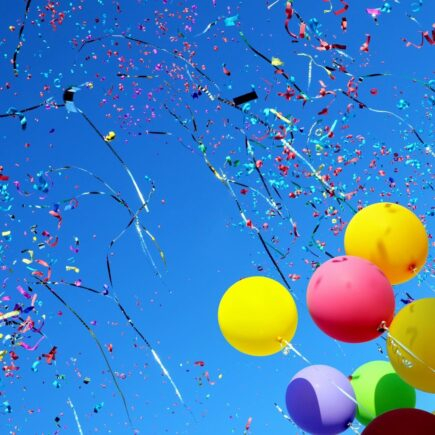 rainbow colored balloons