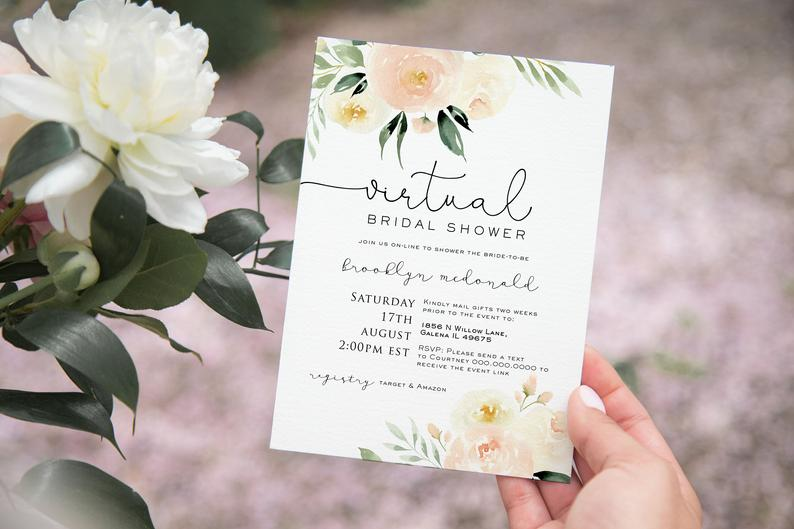 virtual bridal shower invites